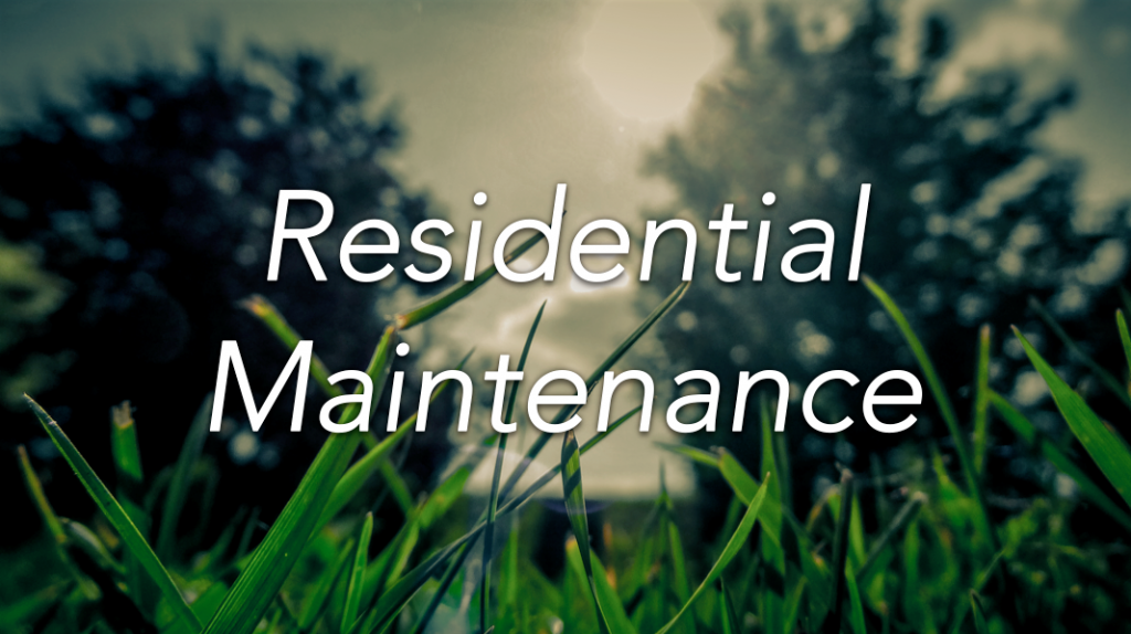 Residential Maintenance Banner
