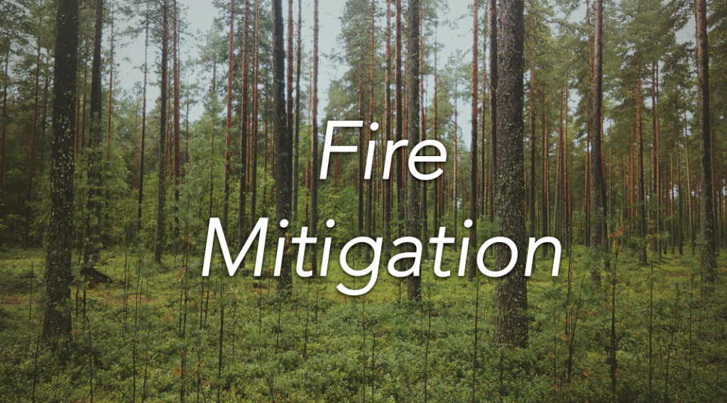 Fire Mitigation Banner